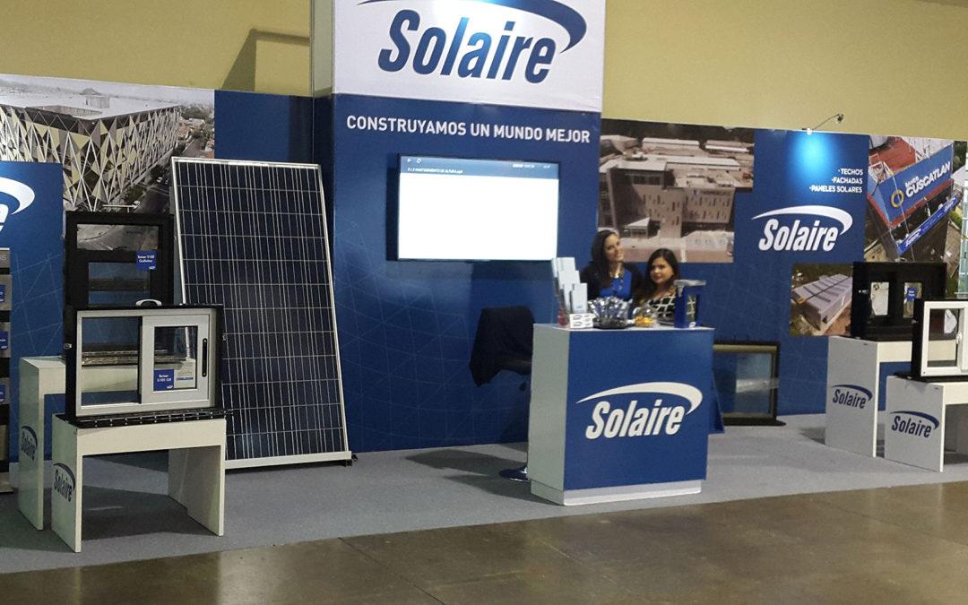 Solaire dijo presente en la Construexpo 2018