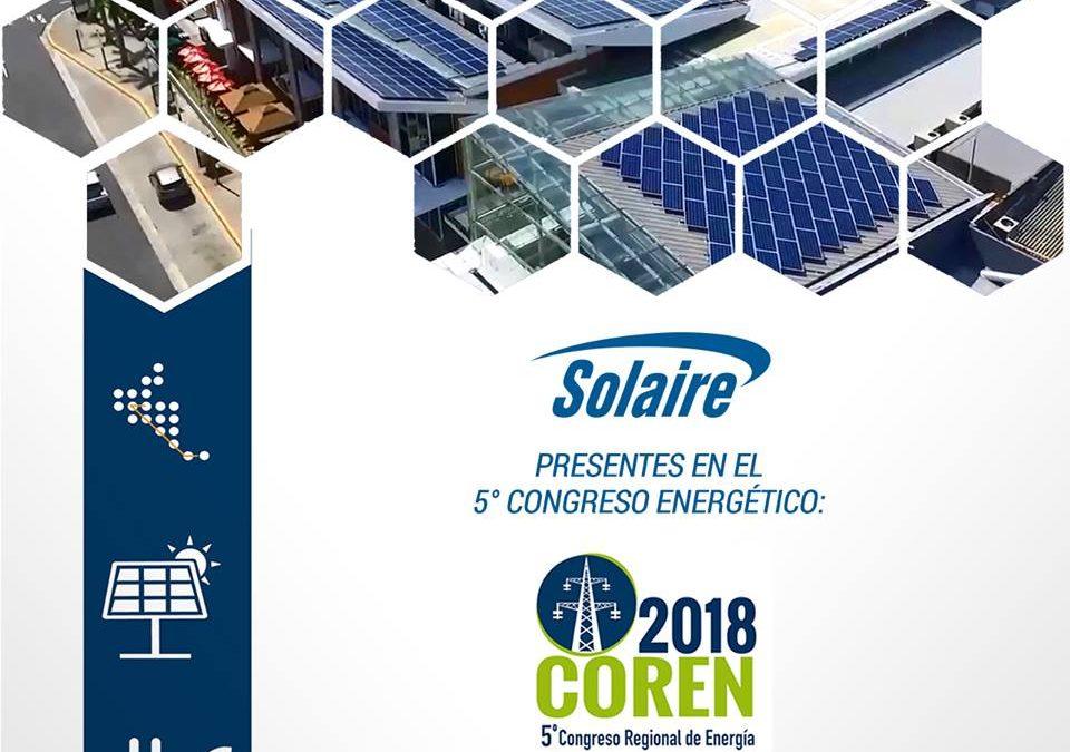 Solaire presente en el 5to Congreso Energético COREN 2018