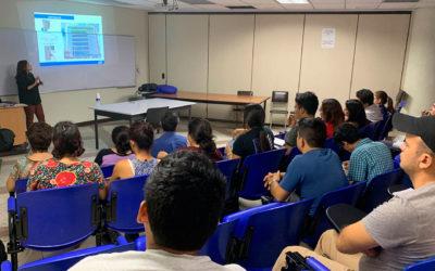 Charla técnica impartida en la Universidad de El Salvador